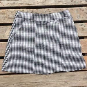 Nanette Lepore Checkered Stretch Mini Skirt Size 4